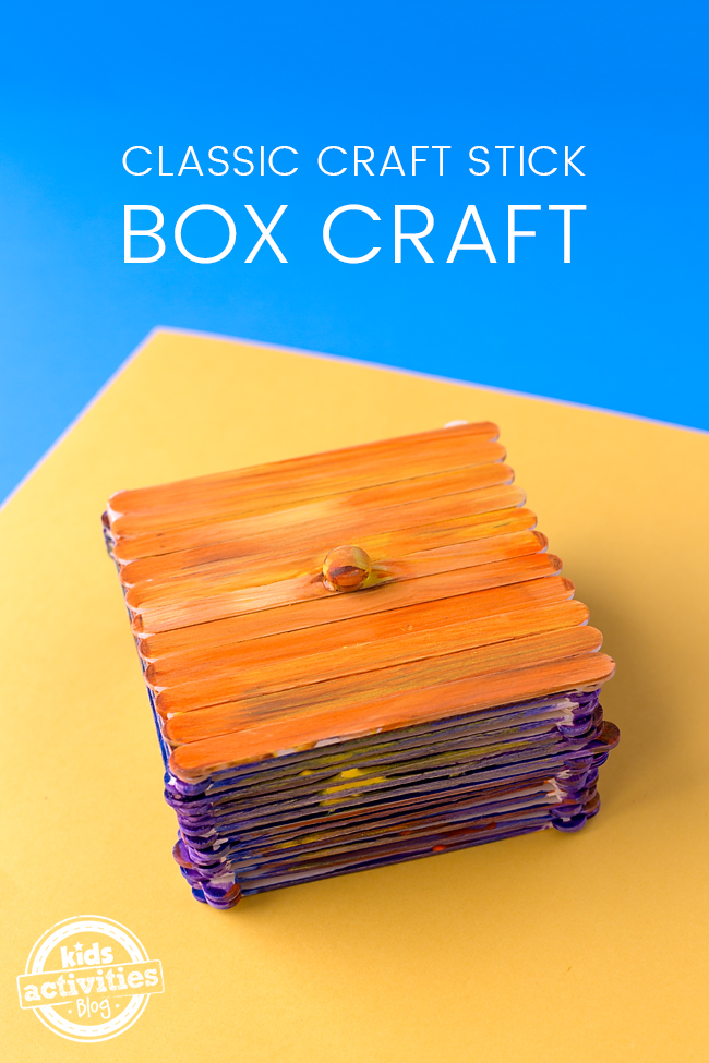 Classic Craft Stick Boxes