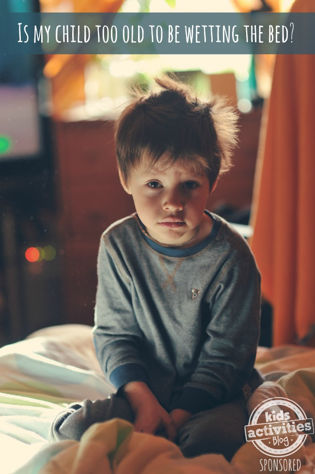GOODNITES child too old to wet bed