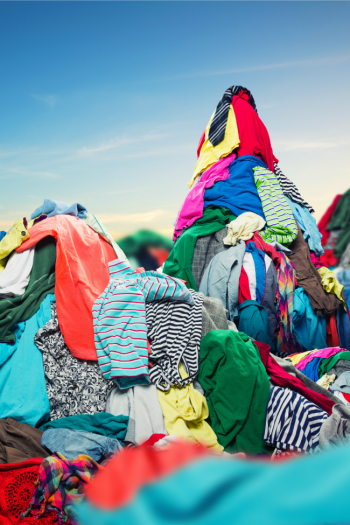 Mountains of laundry