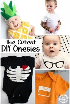 15 {Adorable} DIY Baby Onesies