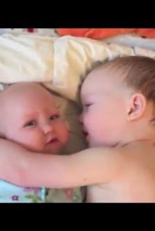 Little Boy Has Cutest Response To His Crying Baby Sister