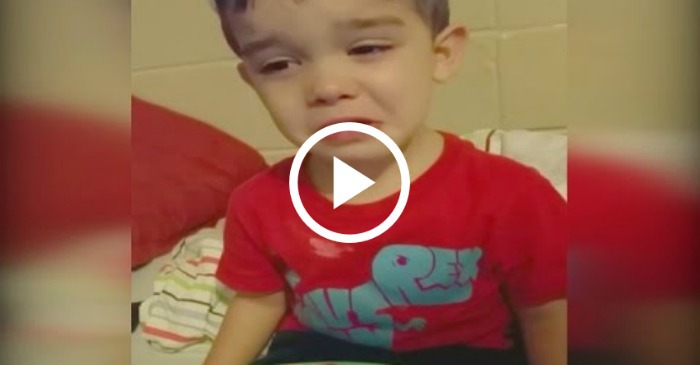 Little Boy Crying About His Dinner But You Won T Believe Why