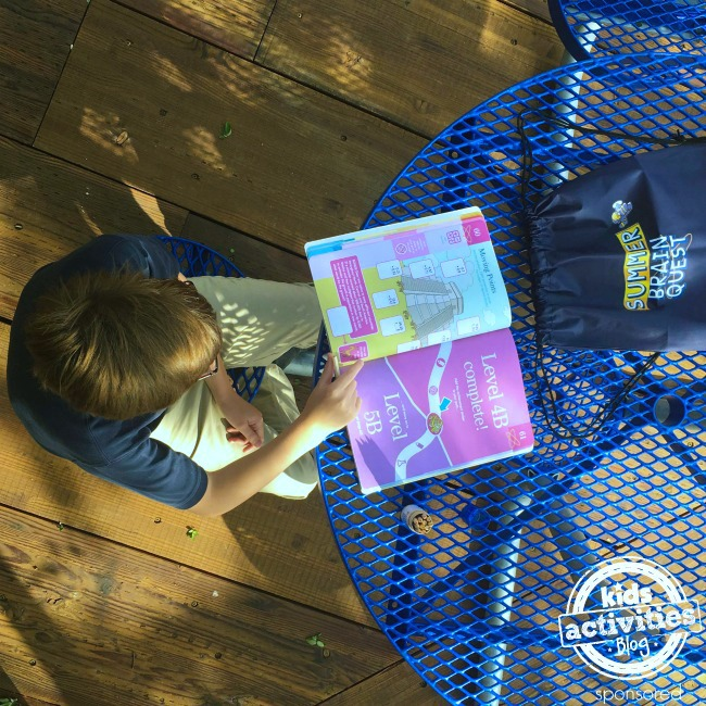 Summer Brain Quest at the picnic table