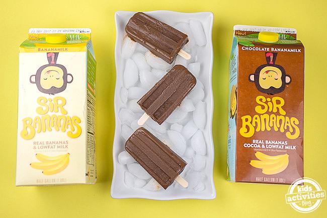 Banana Fudge Popsicles