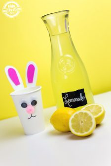 Bunny Cups with Homemade Lemonade