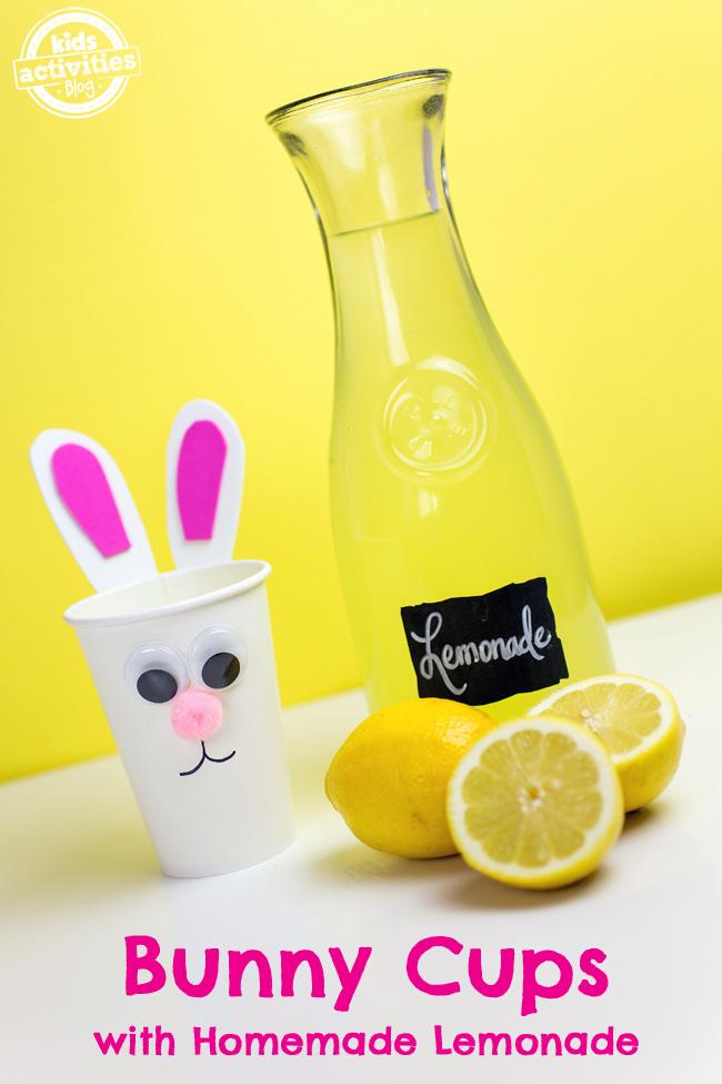 Bunny Cups with Homemade Lemonade