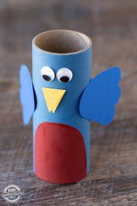 Cardboard Roll Bluebird