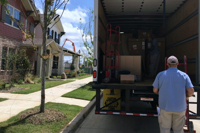 Joybird sofa delivery truck
