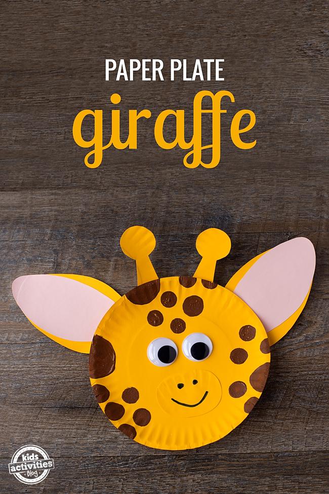 Paper Plate Giraffe