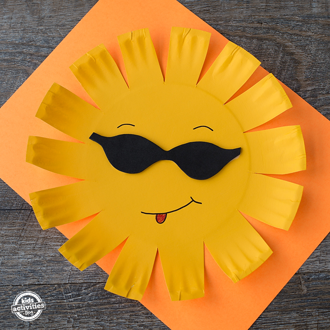 Paper Plate Sun Craft & Paper Plate Sun Craft - Dallas Single Parents
