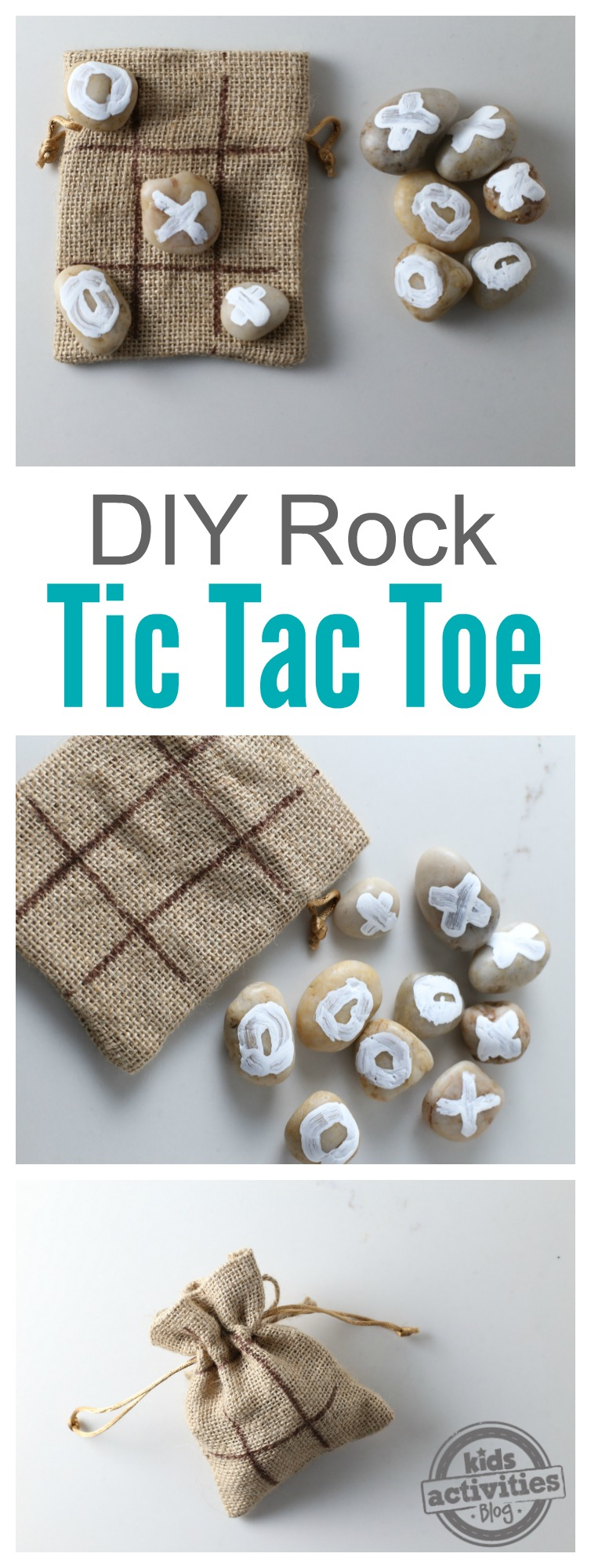 DIY Rock Tic Tac Toe