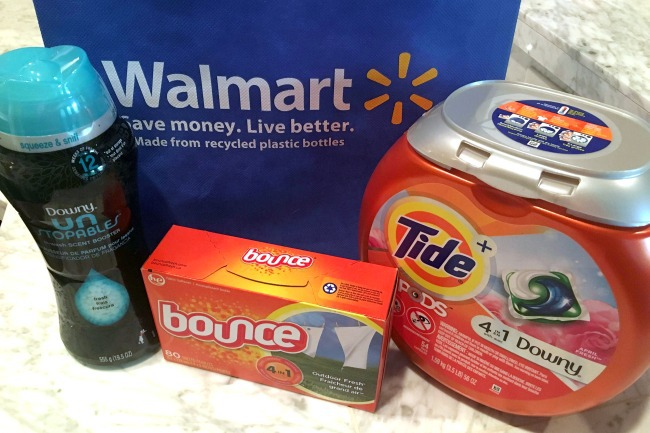 Walmart Tide PODS with Downy and Unstopables