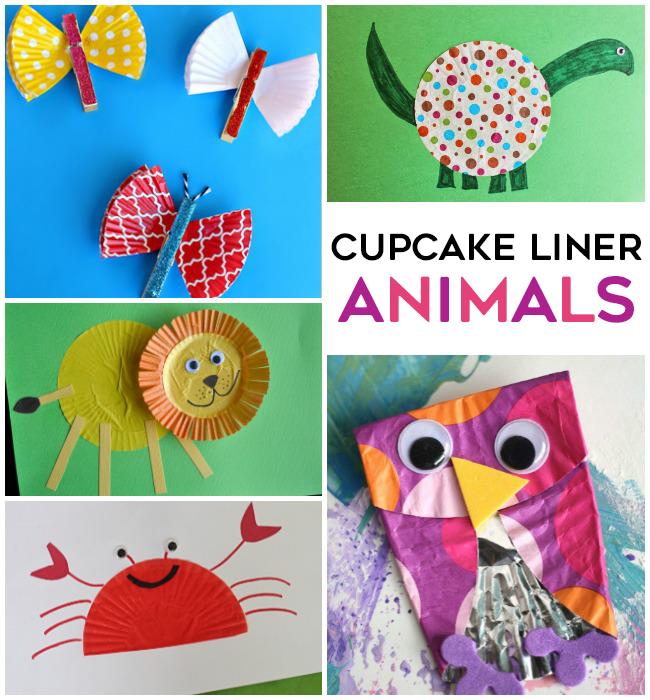Cupcake Liner Animals