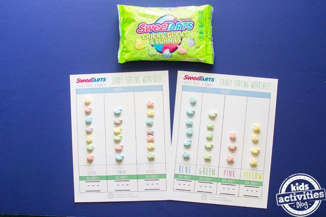 sweetarts easter kids math worksheet