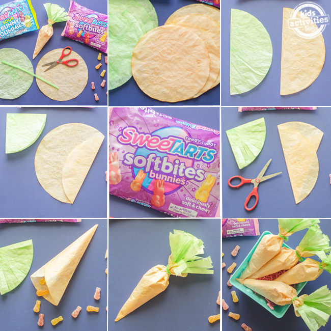 easter carrot coffee filter craft