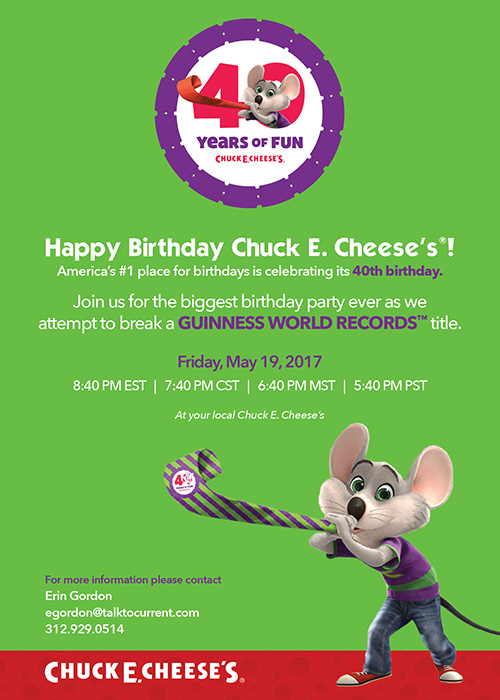 picture about Chuck E Cheese Printable Invitations titled Chuck E. Cheeses goes for a Global Heritage