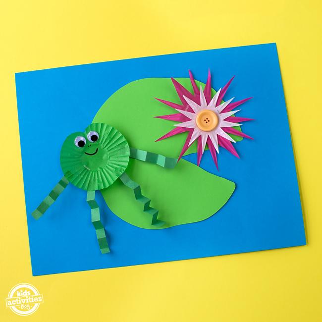 Cupcake Liner Frog Craft 4