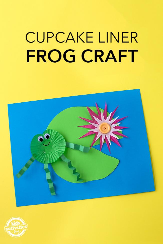 Cupcake Liner Frog Craft