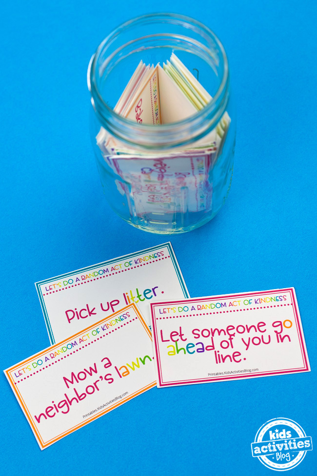 Random Acts of Kindness Cards for Kids: 40 Free Printable Cards