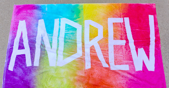 Personalized Tie Dye Beach Towels