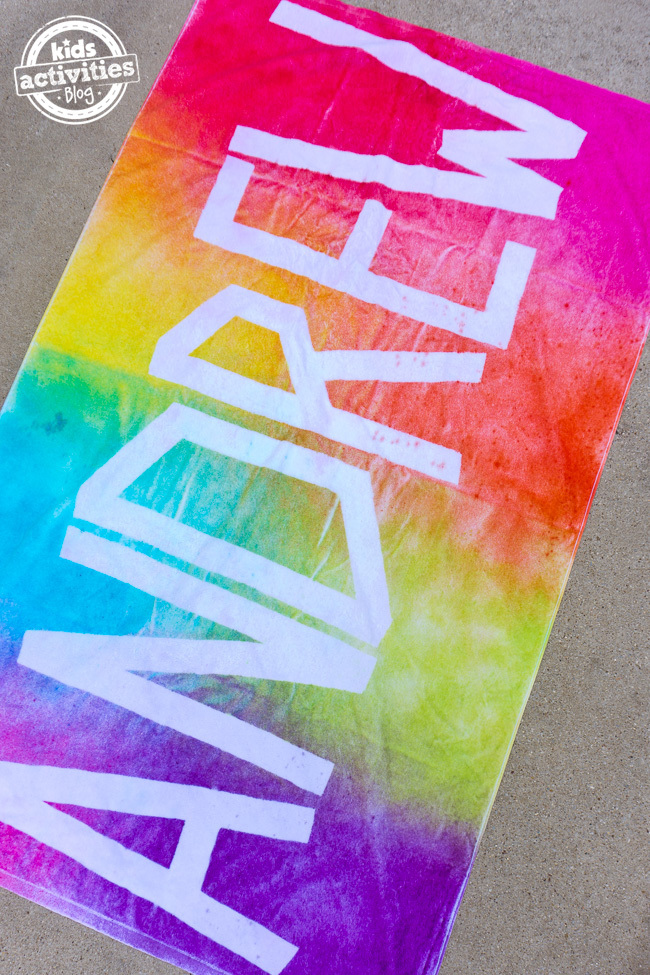 Personalized Tie Dye Beach Towels
