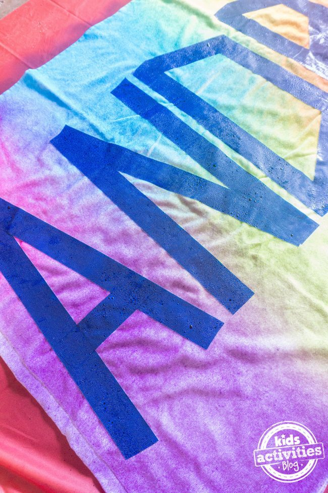 Personalized Tie Dye Beach Towel