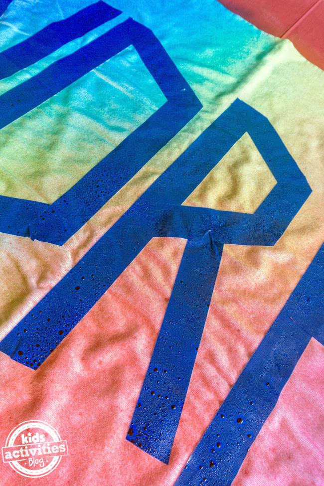 Personalized Tie Dye Beach Towel