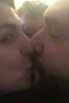 "Jealous Baby Tells His Parents, ""No More Kissing!"""