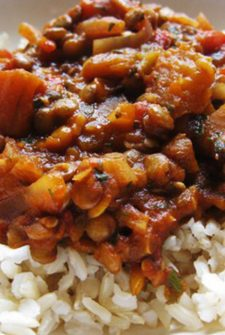 Korean BBQ Lentils with Brown Rice