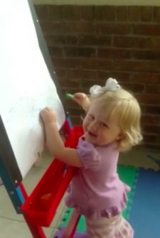 Trouble Making Toddler Gets Caught In The Act
