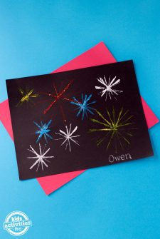 How to Make Craft Stick Fireworks Art