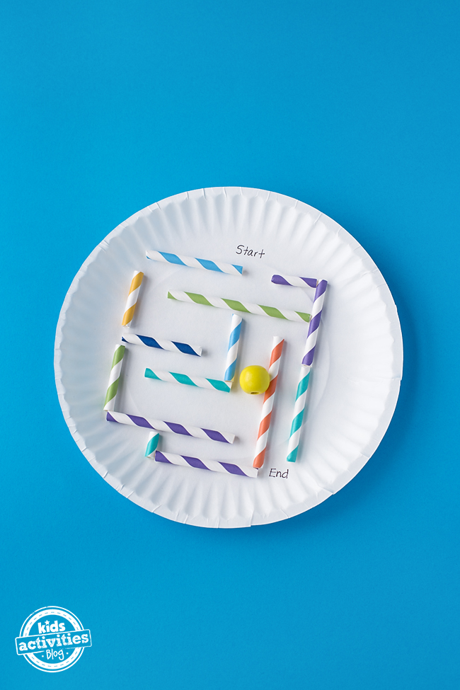 How To Make A Simple Paper Plate Marble Maze With Your Kids