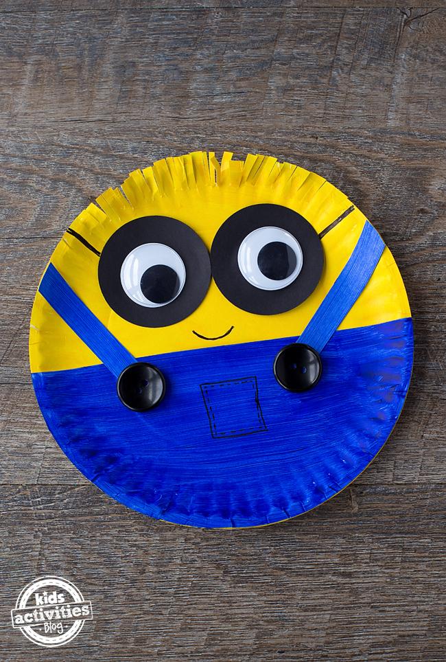 Paper Plate Minion Craft & Easy Paper Plate Minion Craft - Dallas Single Parents