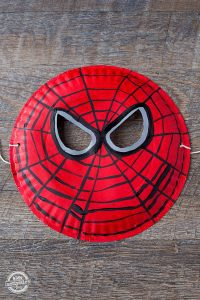 Paper Plate Spider-Man Mask