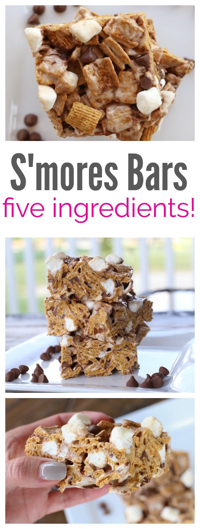 Five Ingredient S'mores Bars