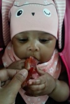Adorable Moment Tiny Baby Tries Bacon For The First Time…And Won't Let Go