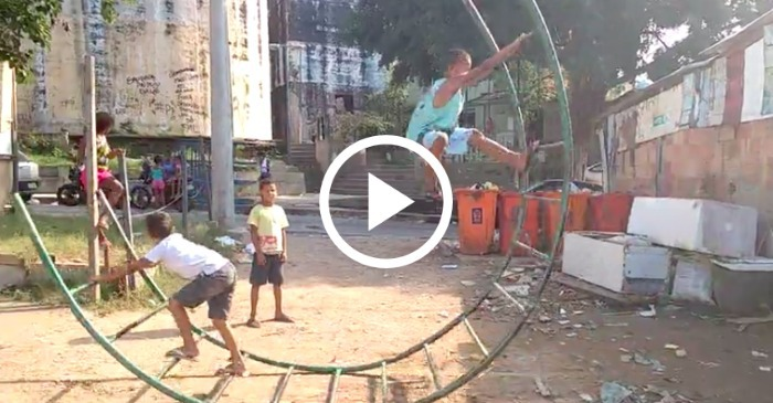 Inventive Kids Turn Old Playground Equipment Into The