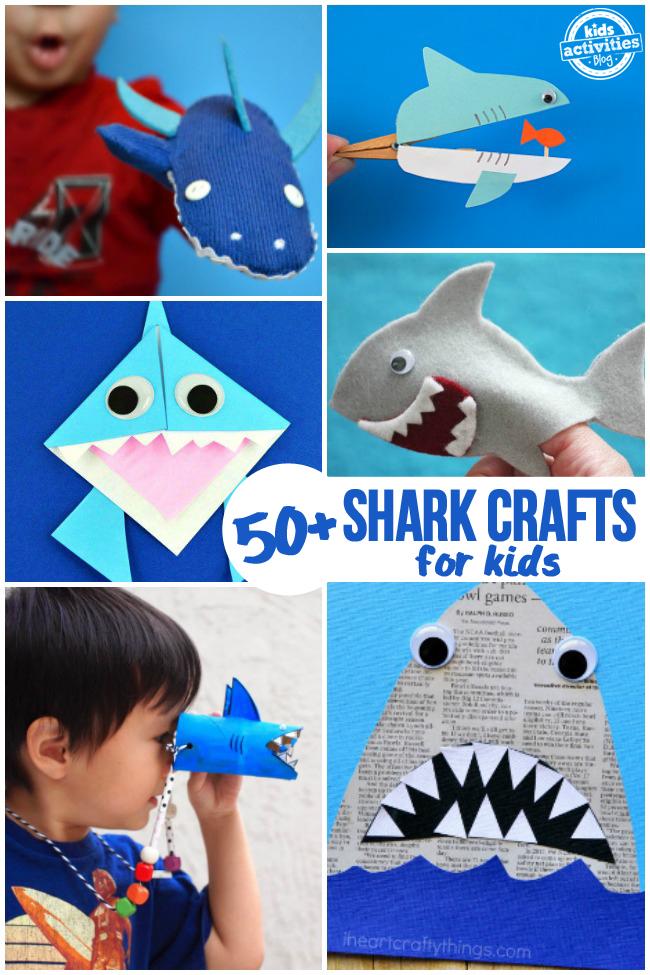 50 Shark Crafts for Kids