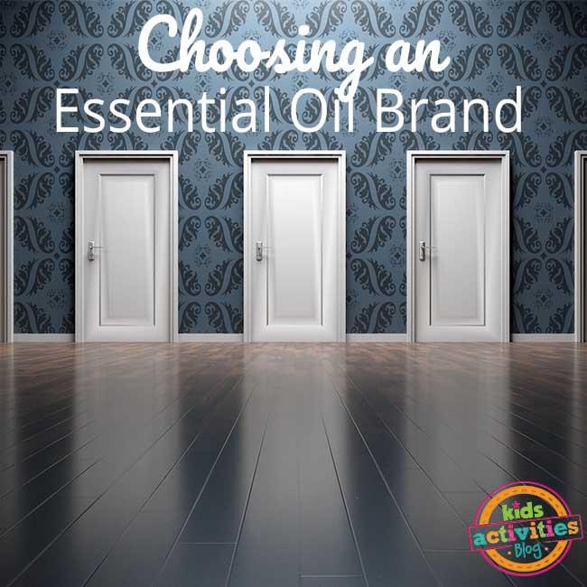 Choosing an essential oil brand