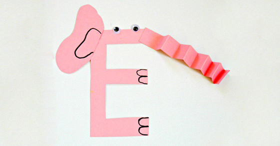 Letter E Craft E Is For Elephant