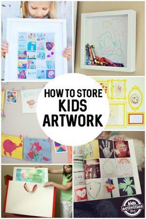 How To Store Kids Art