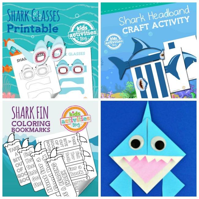 Shark Week Crafts Collage