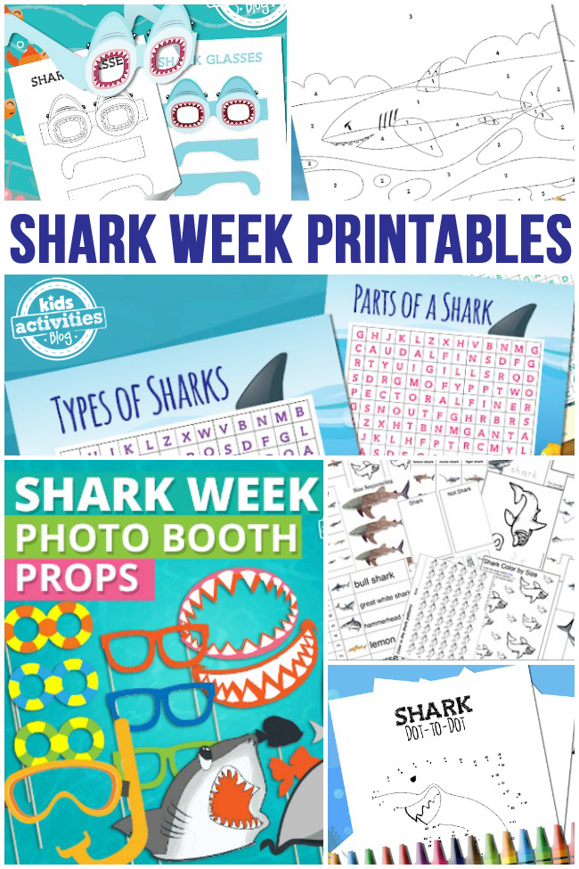collage of ocean worksheets - kids activities