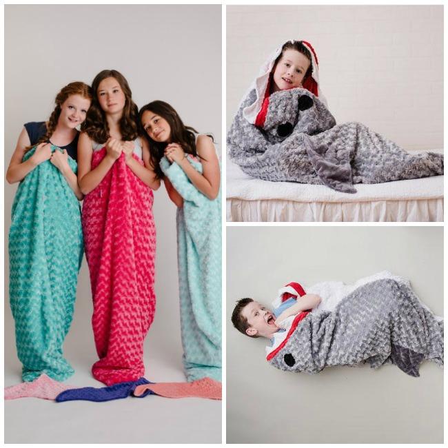 Shark and Mermaid Blanket and Sleep Sacks