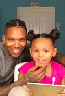 Little Girl's Dad Styles Her Hair Like A Pro!