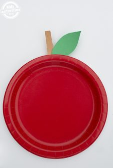 Easy Paper Plate Apple Craft for Kids