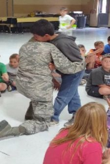 Soldier Surprises Nephew By Showing Up At School Assembly