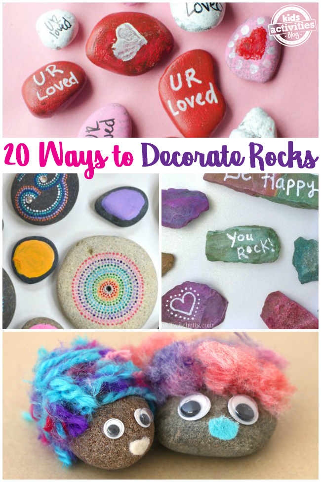 20 Ways to Decorate Rocks