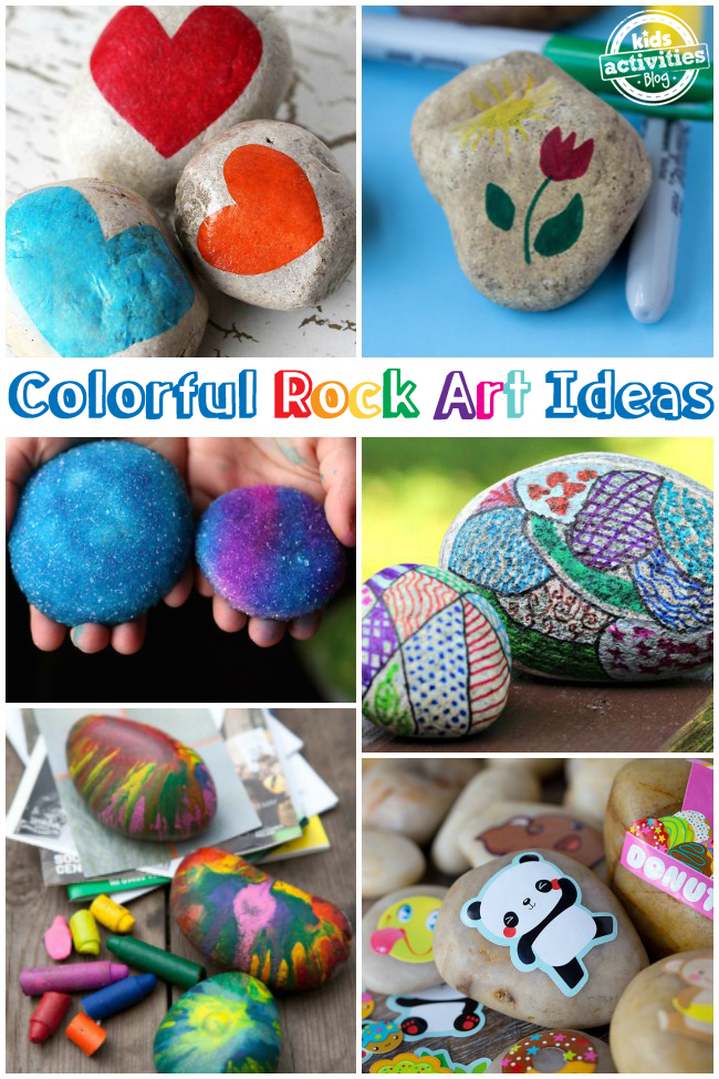 Colorful Rock Art Ideas