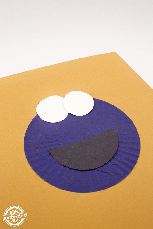 Cupcake Liner Cookie Monster